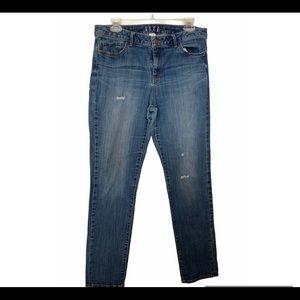 Elle Blue Distressed Jeans Size 10